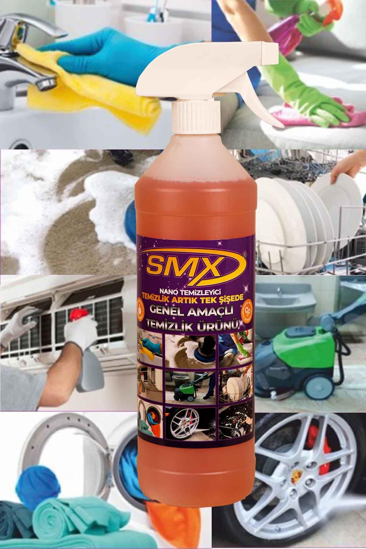 SMX Nano Genel Amaçlı Temizleyici / Banyo Temizleyici / Fayans Temizleyici / Derz Temizleyici (5 LT) / EV TEMİZLİK SETİ-2