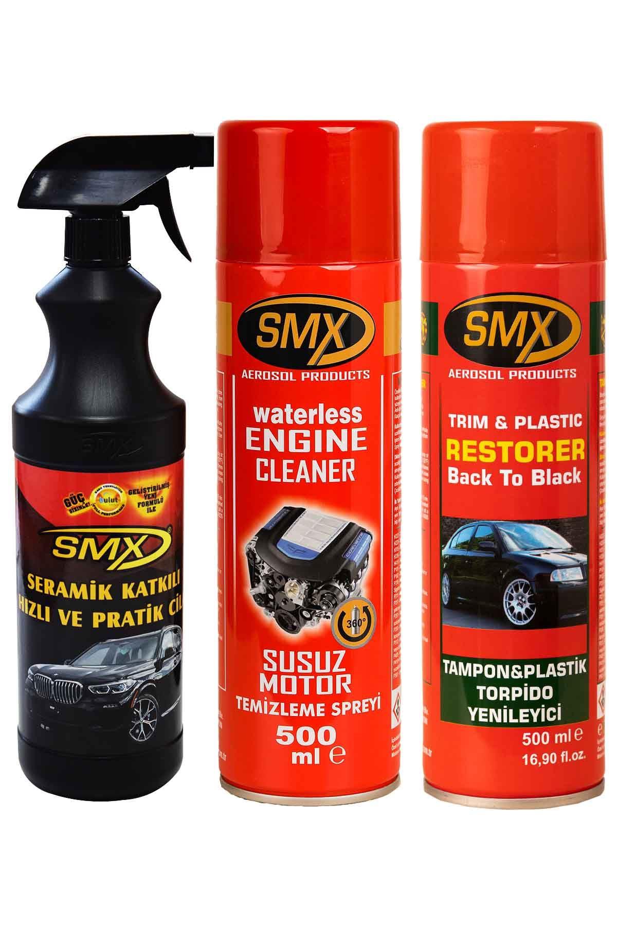 SMX Seramik Cila / Hızlı Cila Pratik Cila / Susuz Motor Temizleme Spreyi / Tampon Yenileyici / Plastik Yenileyici / Torpido Yenileyici