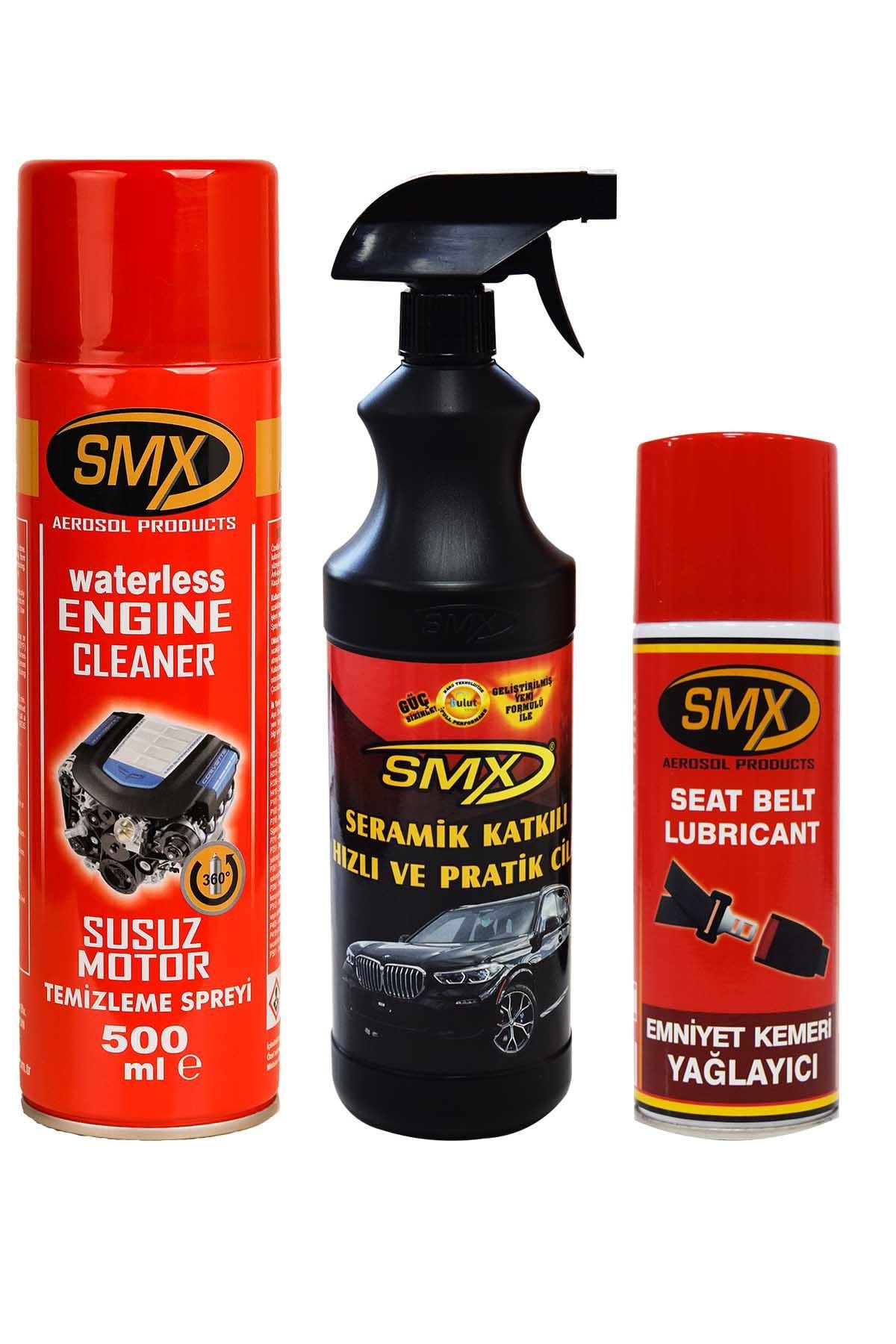 SMX Susuz Motor Temizleme Spreyi / Emniyet Kemeri Yağlayıcı / Seramik Cila / Hızlı Cila / Pratik Cila